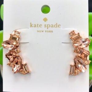 Kate Spade Rose Gold Cluster Crawler Earrings